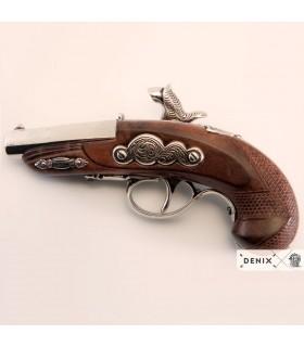 Pistola Deringer Filadelfia de Percusión plateada