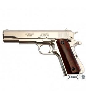 Pistola automática M1911A1 niquelada, USA 1911