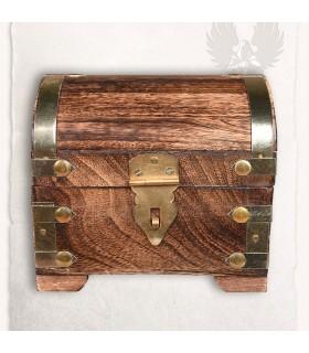 Cofre medieval con cierre (14x11 cms.)