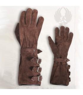Guantes guerrero medieval Kandor, marrones