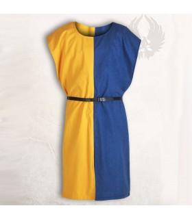 Sobrevesta medieval Ignaz, Azul-Amarillo