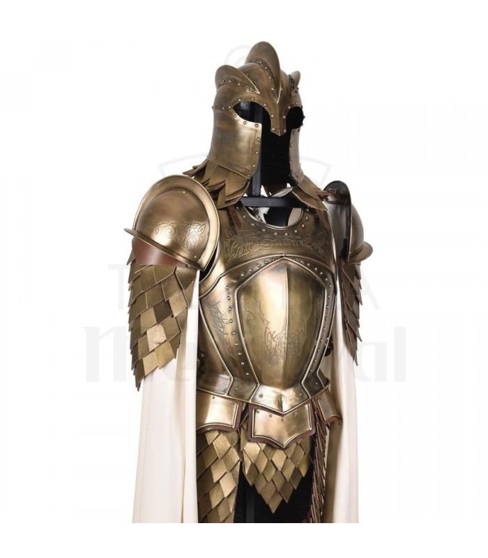 Armadura Guardia Real acero latonado