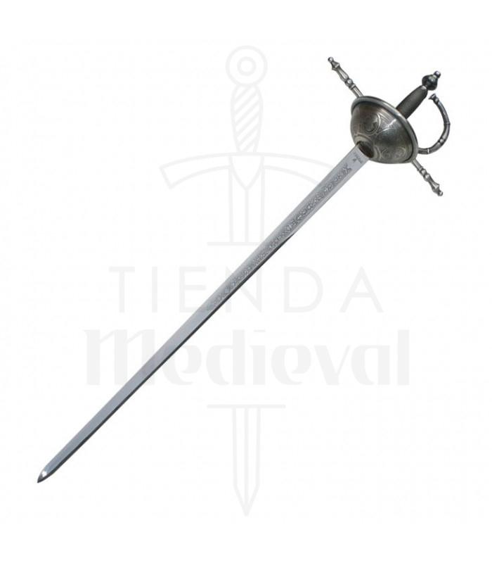 Espada Tizona Española, acabado rústico, s. XVII