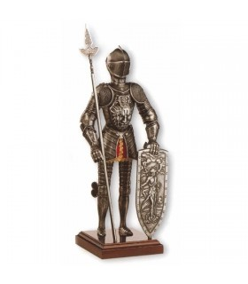 Miniatura armadura caballero medieval Dragón, 42 cms.