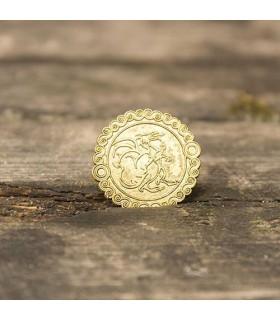 Set 200 monedas medievales León doradas