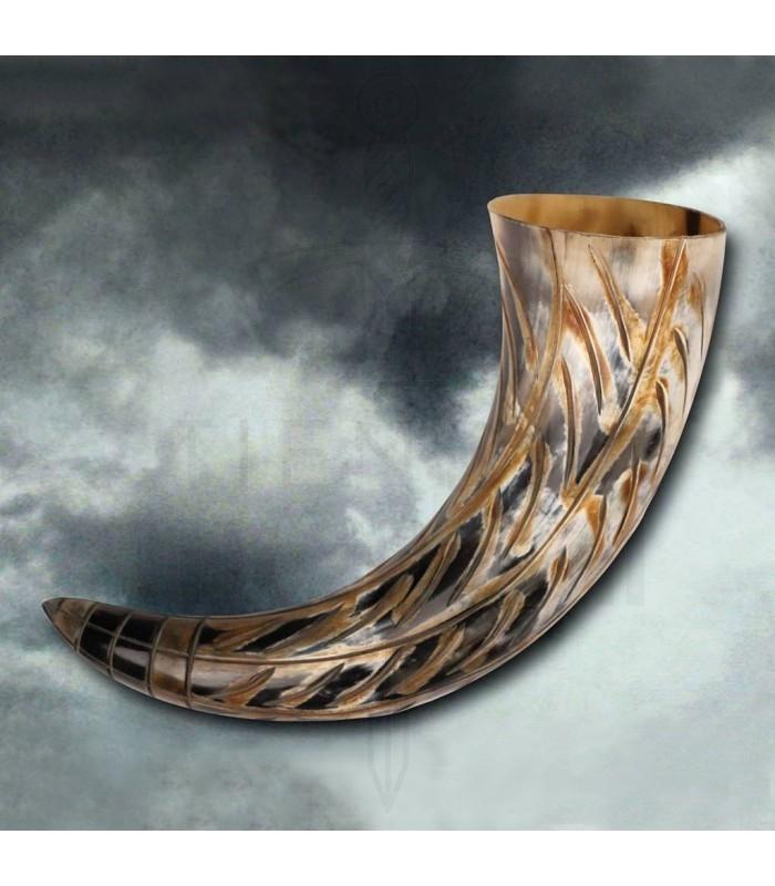 Cuerno vikingo de Ragnar, 35 cms.