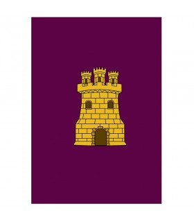 Estandarte Medieval Castillo para exteriores (100x70 cms.)