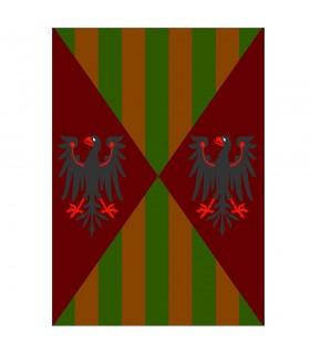 Mittelalterliche Banner Adler und Bars, verschiedene Größen