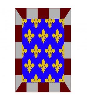 Estandarte medieval mosaico flor de lis, varios tamaños