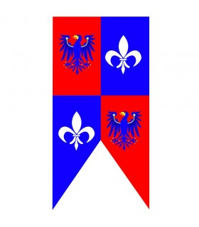 Mittelalterliche Banner Adler mit Fleur de Lis