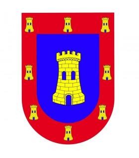 Mittelalterliche Banner Schild Burg Waffen