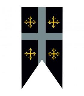 Mittelalterliche Standardkasernen Templerkreuze