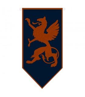 Mittelalterliche zügellose Drachenfahne