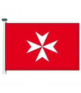 Bandera templaria Orden de Malta