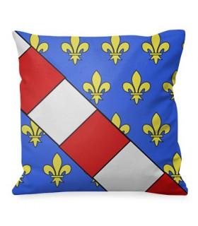 Mittelalterliches Kissen Luis Wappen von Frankreich