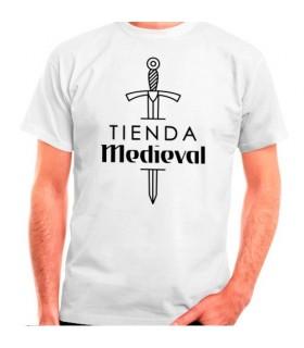 Weißes T-Shirt des mittelalterlichen Speichers