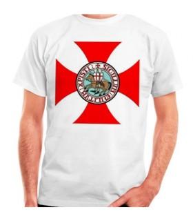 Camiseta Cruz Templaria con Caballeros Templarios
