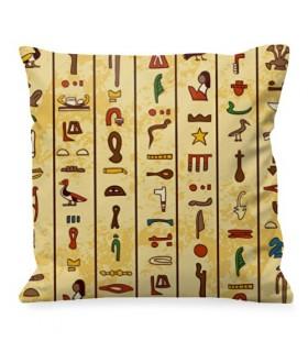 Cojín con jeroglíficos egipcios