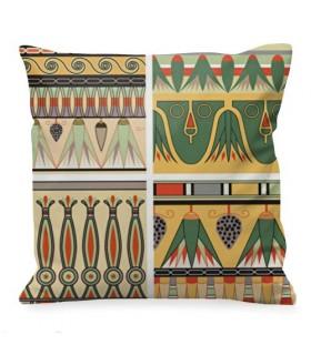 Cojín con decoración egipcia