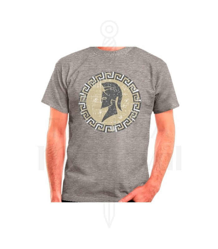 Camiseta Espartano gris, manga corta