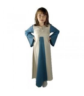Vestido medieval bicolor para niñas