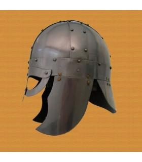 Wikingerhelm mit Maske und Protektoren