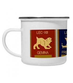 Taza latón esmaltado Vintage 4 Legiones Romanas