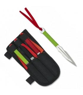 Set 3 Cuchillos Lanzadores Acero Inoxidable