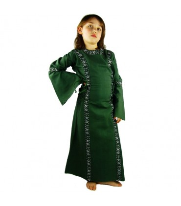 Vestido medieval para niñas