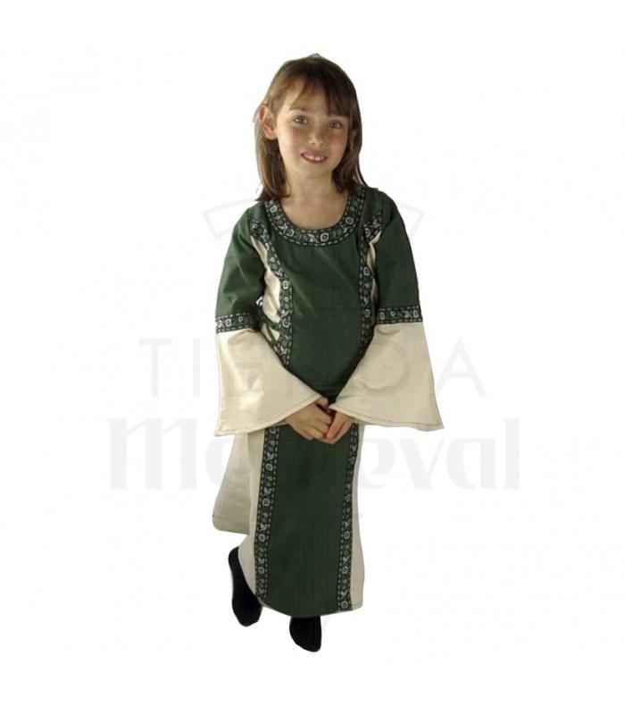 Vestido bicolor para niñas