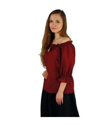 Blusa medieval para mujer, 2 colores