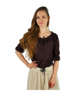 Blusa medieval para mujer, 3 colores