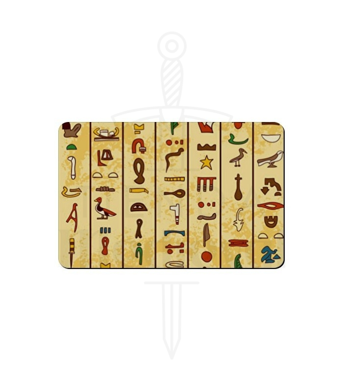 Imán flexible rectangular Jeroglíficos Egipcios