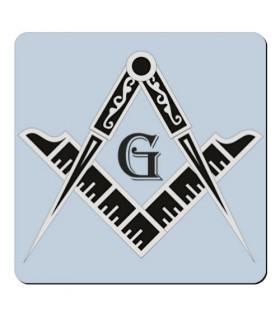 Imán Escuadra y Compás Masones (7,4 x 7,4 cms.)