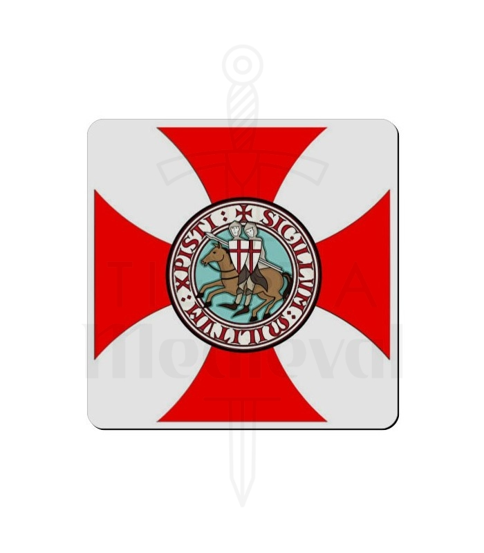 Imán Cruz Paté Caballeros Templarios (7,4 x 7,4 cms.)