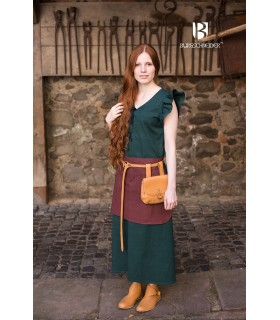 Vestido Medieval Mujer Agga Verde