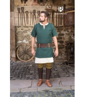 Tunika Mittelalterliche Aegir grün kurzarm