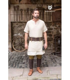 Tunika Mittelalterliche Aegir creme kurzarm
