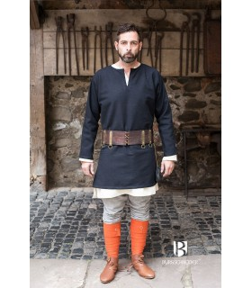 Tunika Mittelalterliche Erik schwarz langarm