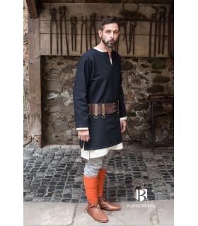 Túnica Medieval Erik negra manga larga