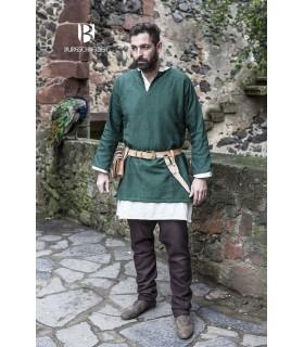 Túnica Medieval Erik verde manga larga