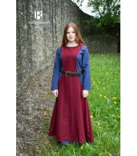 Túnica Medieval Mujer Albrun en Lana Roja