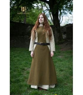 Túnica Medieval Mujer Albrun en Lana Verde