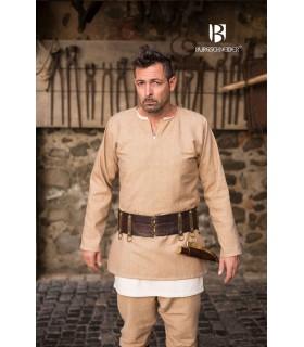 Túnica Medieval Erik crema manga larga