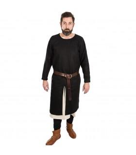 Tunika Mittelalterliche Everard schwarze lange ärmel