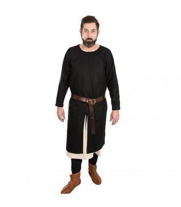 Túnica Medieval Everard negra manga larga