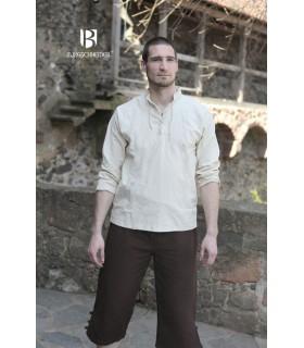 Hemd mittelalterlichen bindungen Tristan, creme