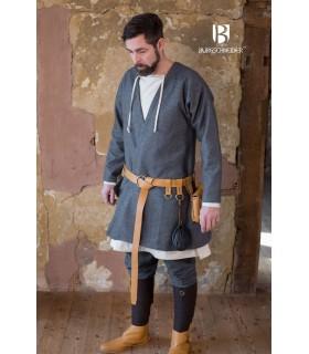 Tunika Mittelalterliche Loki grau langarm