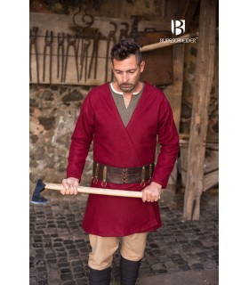 Tunika Mittelalterliche Loki rot langarm