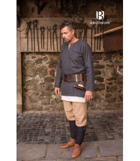 Túnica medieval Lodin, gris oscuro
